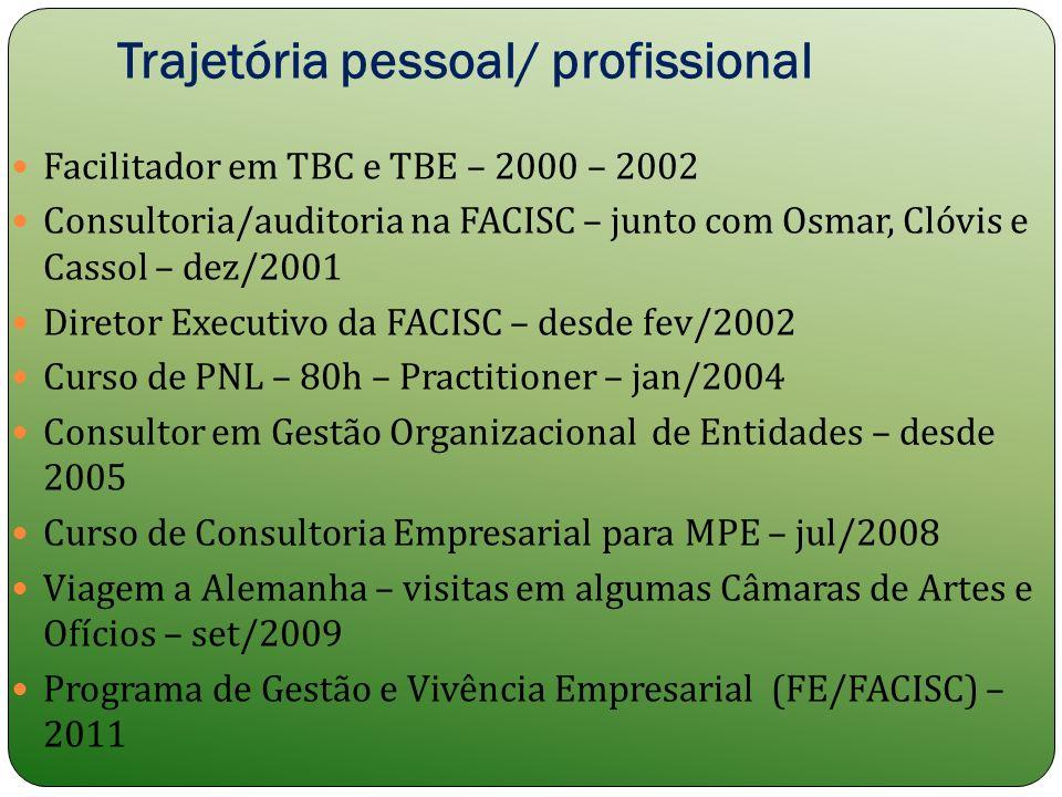 Trajetória pessoal/ profissional