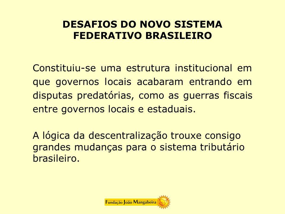 DESAFIOS DO NOVO SISTEMA FEDERATIVO BRASILEIRO