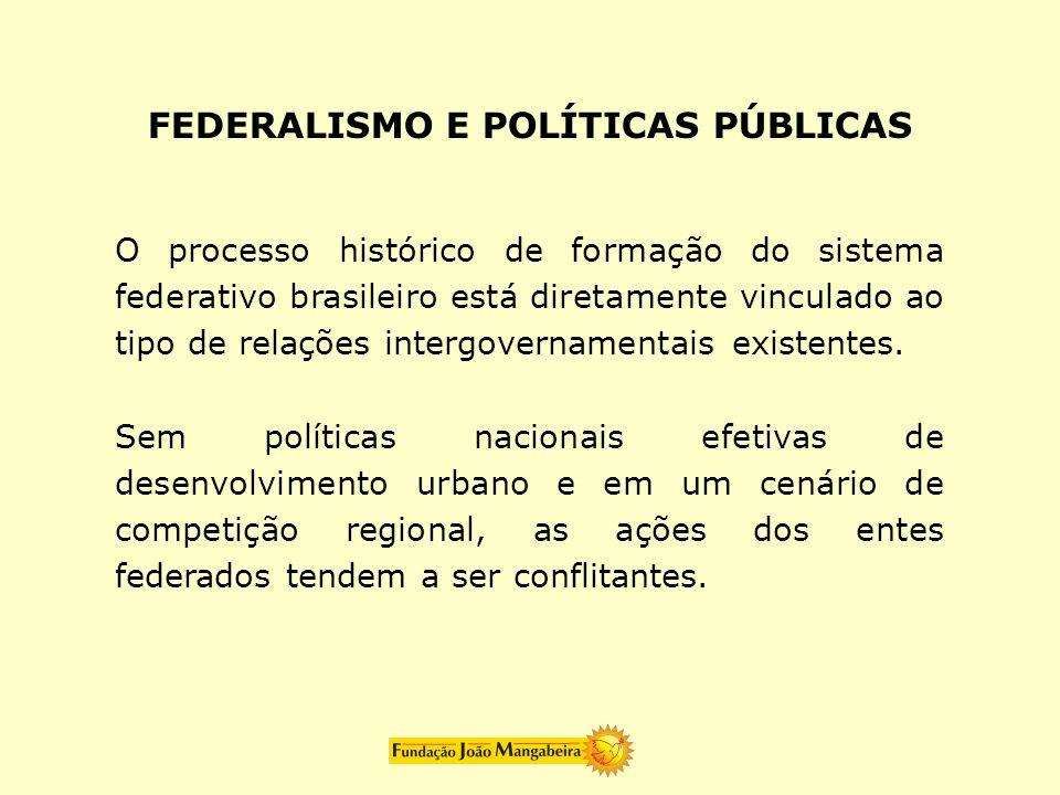 FEDERALISMO E POLÍTICAS PÚBLICAS