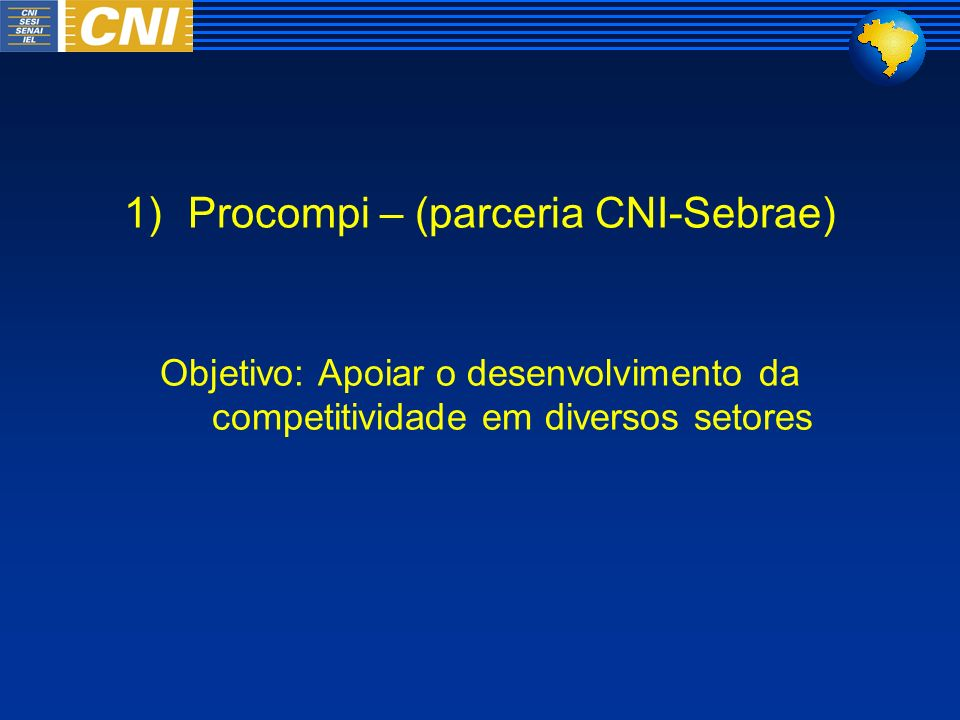 Procompi – (parceria CNI-Sebrae)