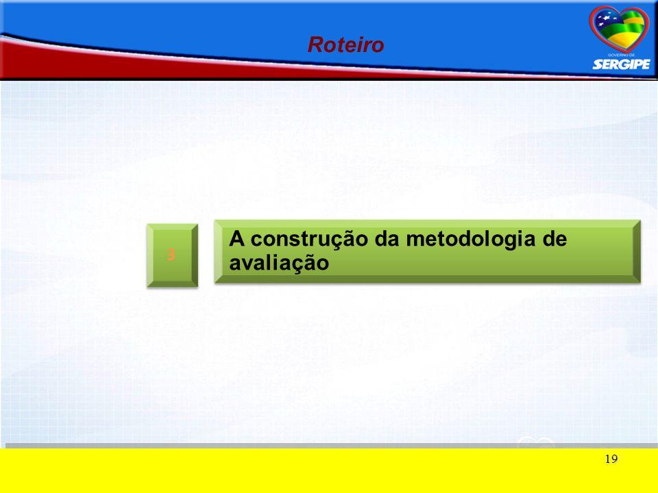 A construção da metodologia de avaliação
