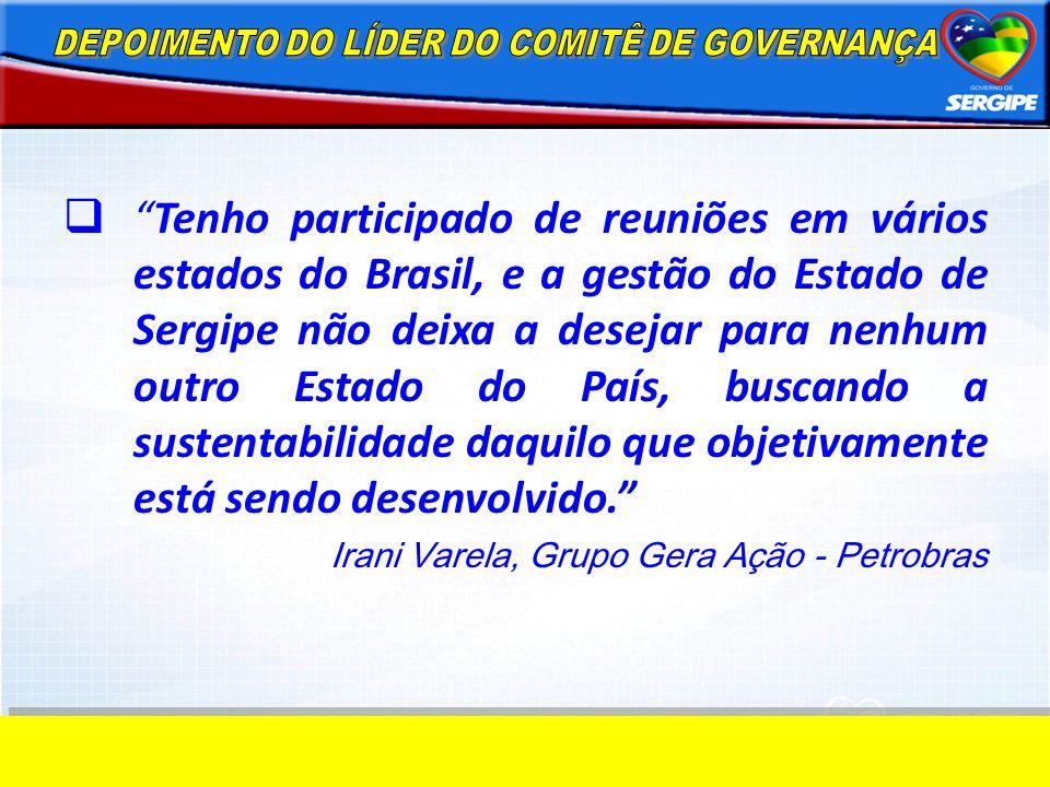 DEPOIMENTO DO LÍDER DO COMITÊ DE GOVERNANÇA