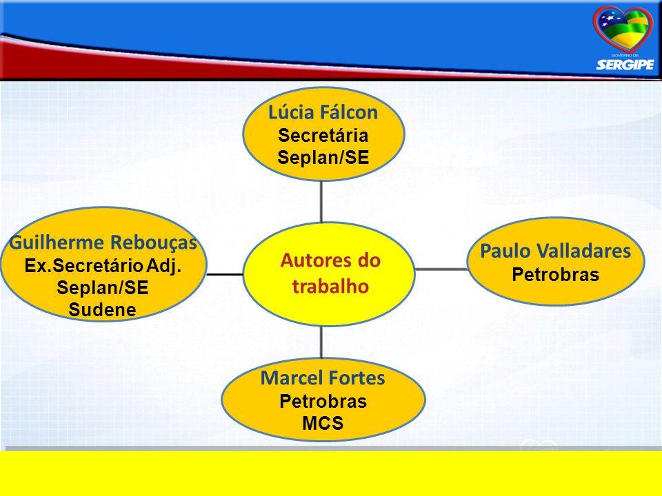 Lúcia Fálcon Guilherme Rebouças Paulo Valladares Autores do trabalho