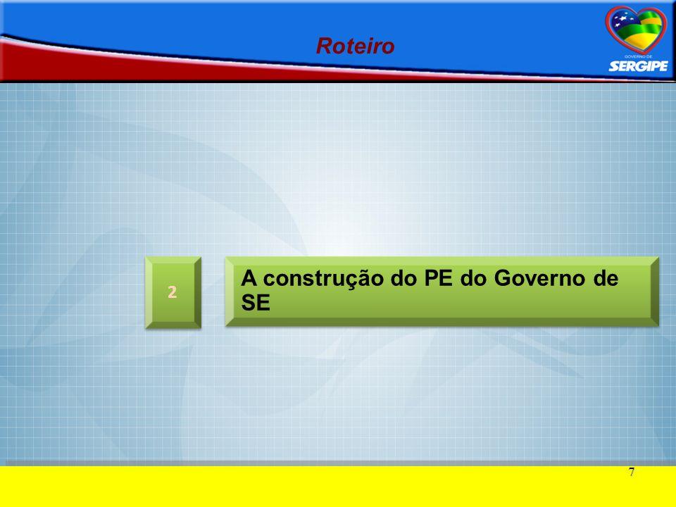 A construção do PE do Governo de SE
