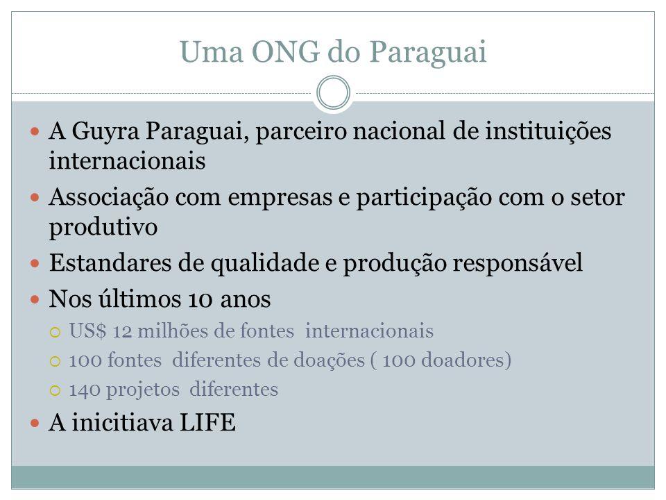 Uma ONG do Paraguai A Guyra Paraguai, parceiro nacional de instituições internacionais. Associação com empresas e participação com o setor produtivo.