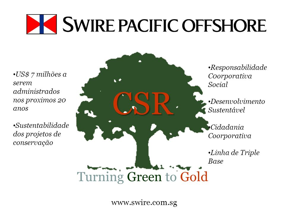 CSR Turning Green to Gold