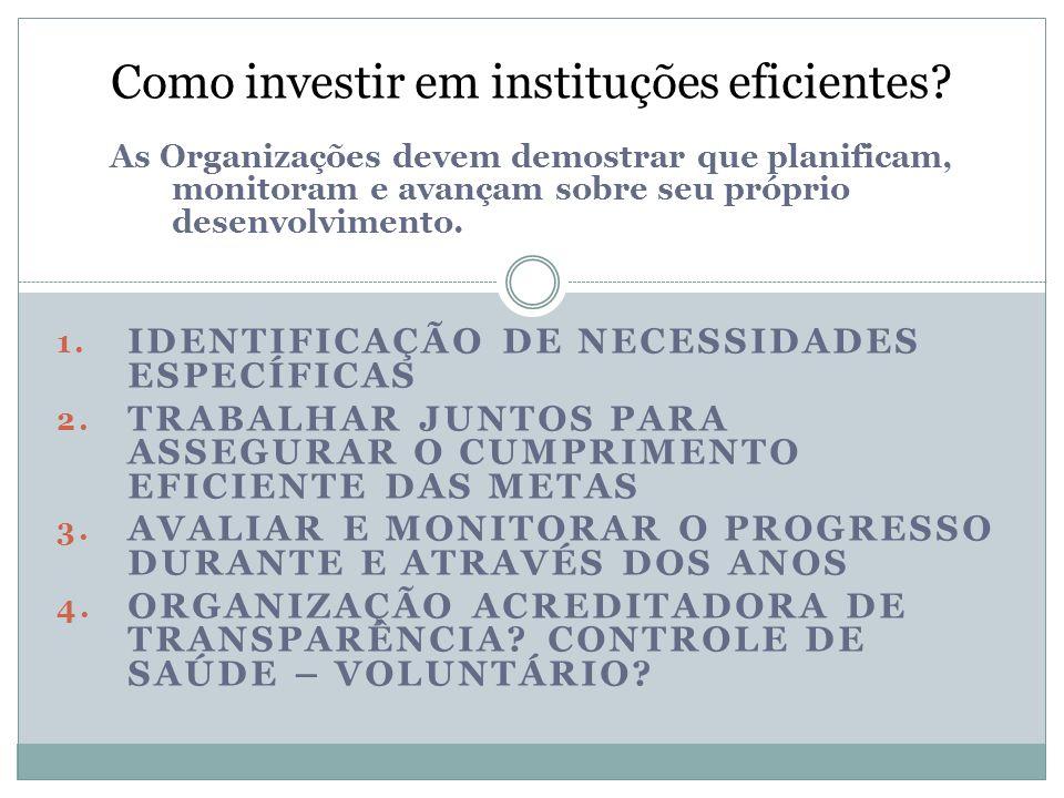 Como investir em instituções eficientes