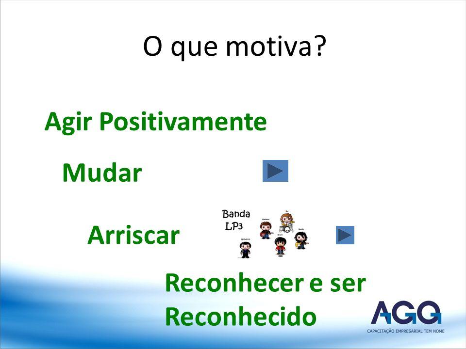 O que motiva Agir Positivamente Mudar Arriscar