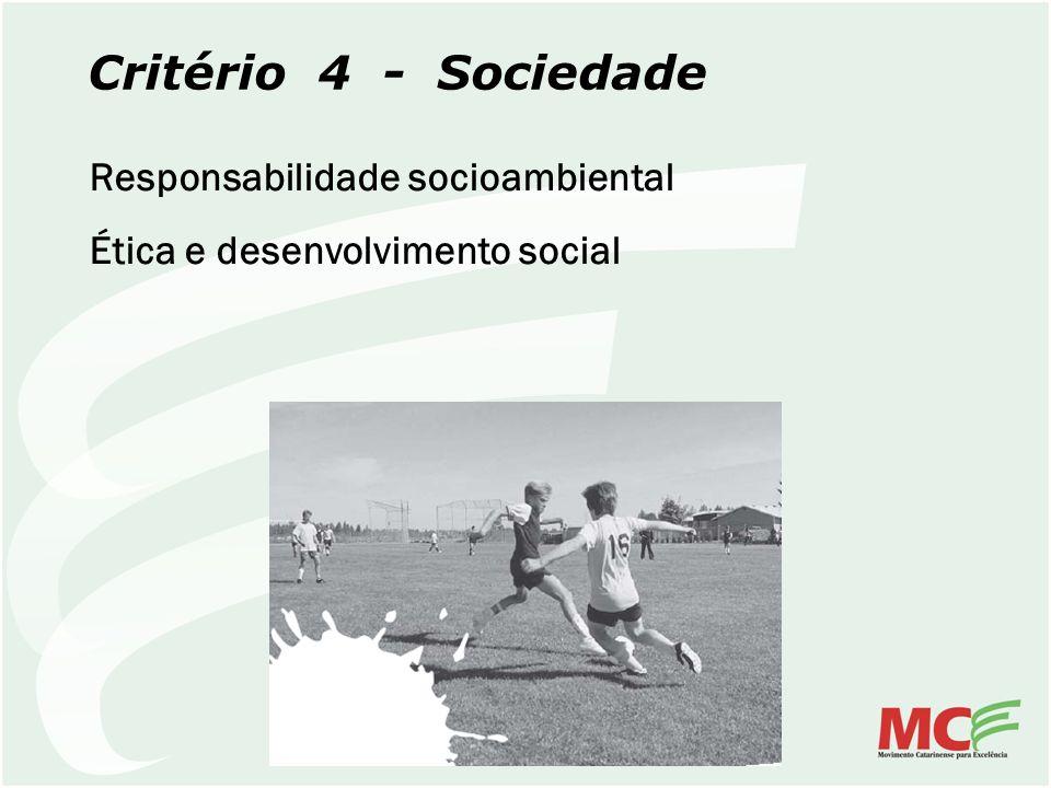 Critério 4 - Sociedade Responsabilidade socioambiental