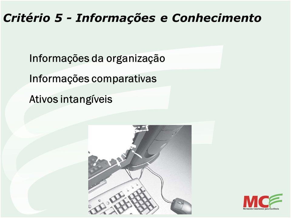 Critério 5 - Informações e Conhecimento