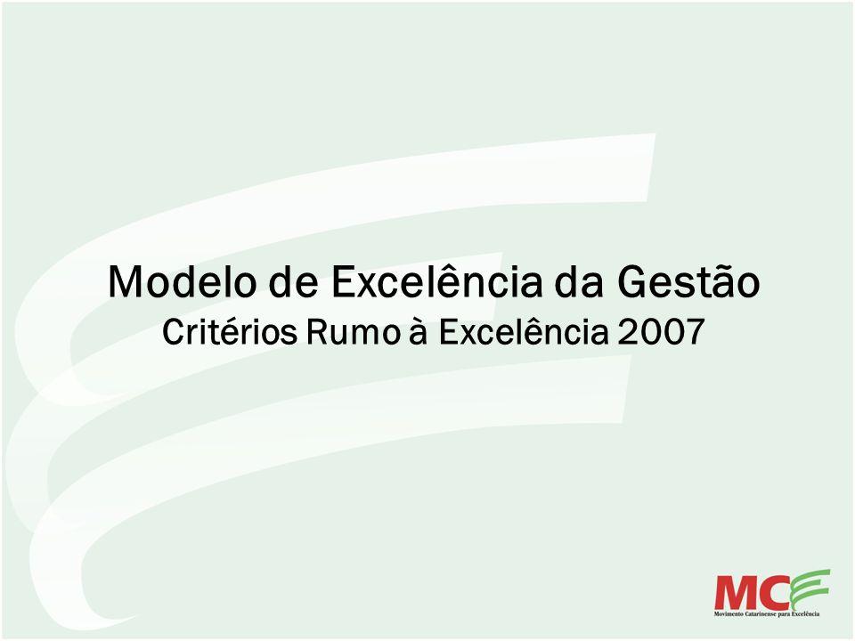 Modelo de Excelência da Gestão Critérios Rumo à Excelência 2007
