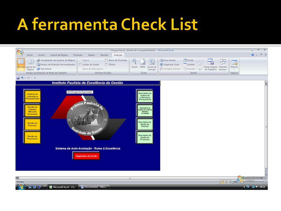 A ferramenta Check List