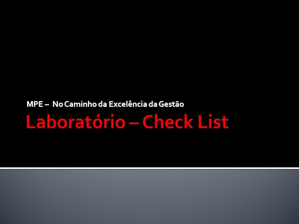 Laboratório – Check List