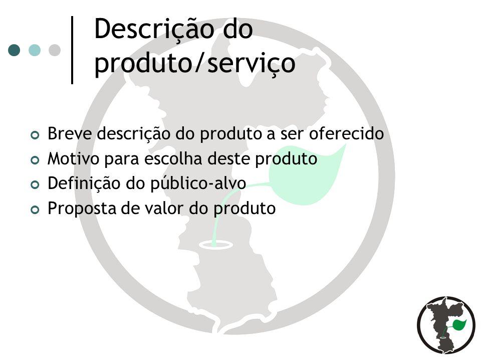 Descrição do produto/serviço