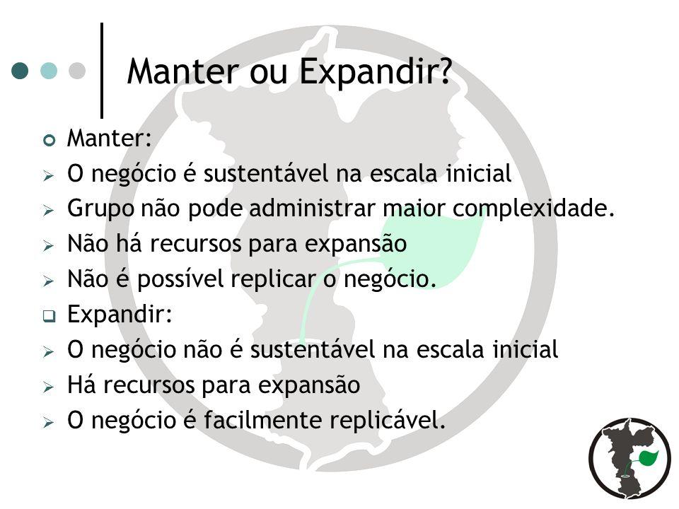 Manter ou Expandir Manter: O negócio é sustentável na escala inicial