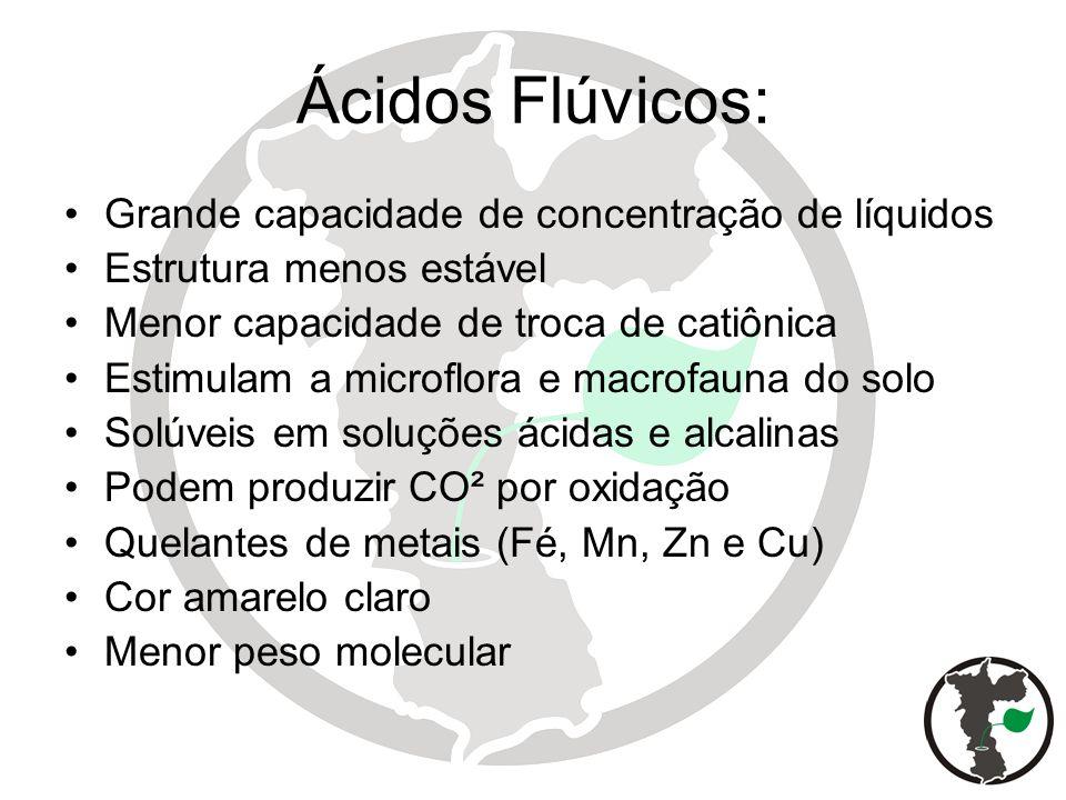 Ácidos Flúvicos: Grande capacidade de concentração de líquidos
