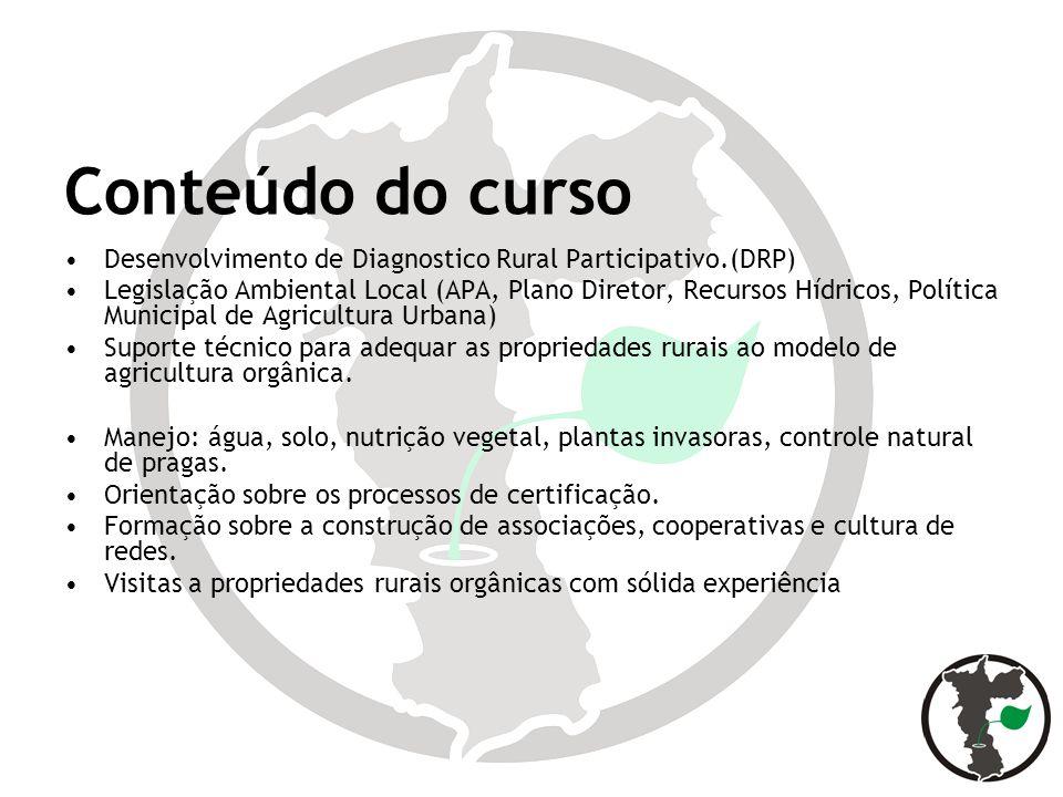 Conteúdo do curso Desenvolvimento de Diagnostico Rural Participativo.(DRP)