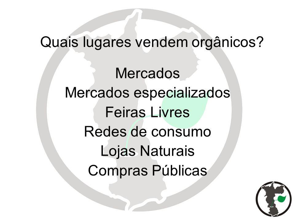 Quais lugares vendem orgânicos