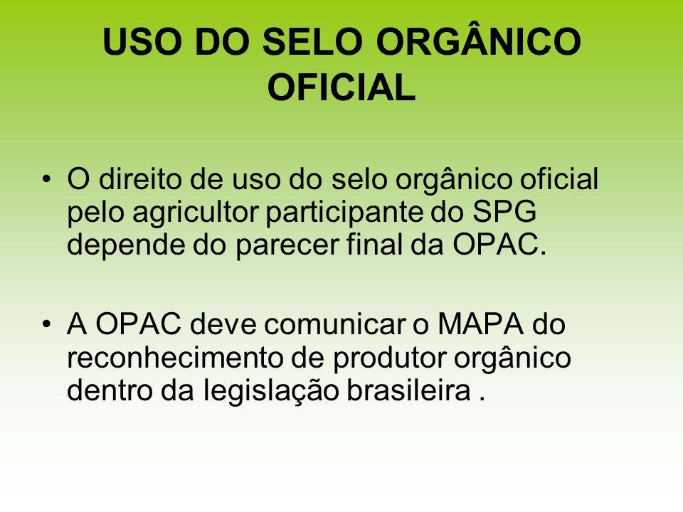 USO DO SELO ORGÂNICO OFICIAL