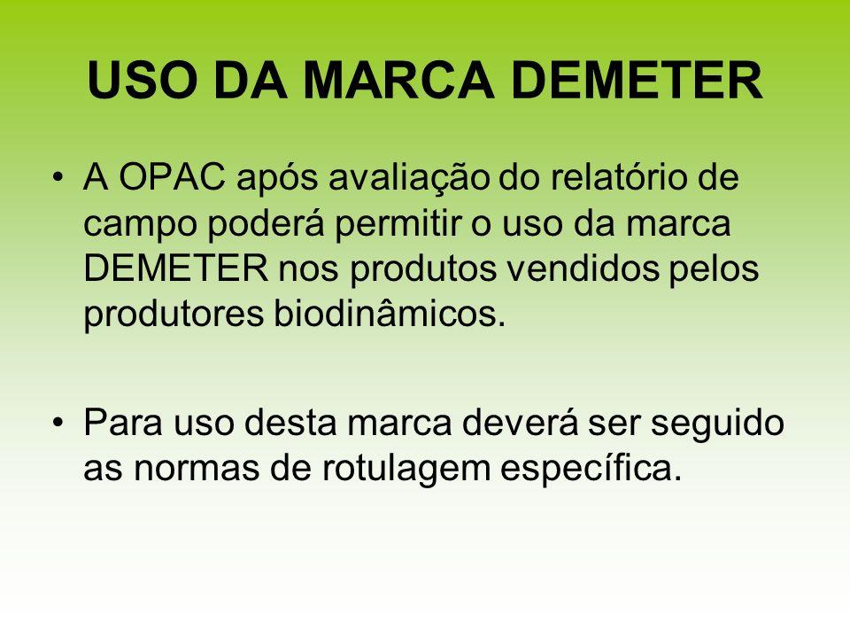 USO DA MARCA DEMETER