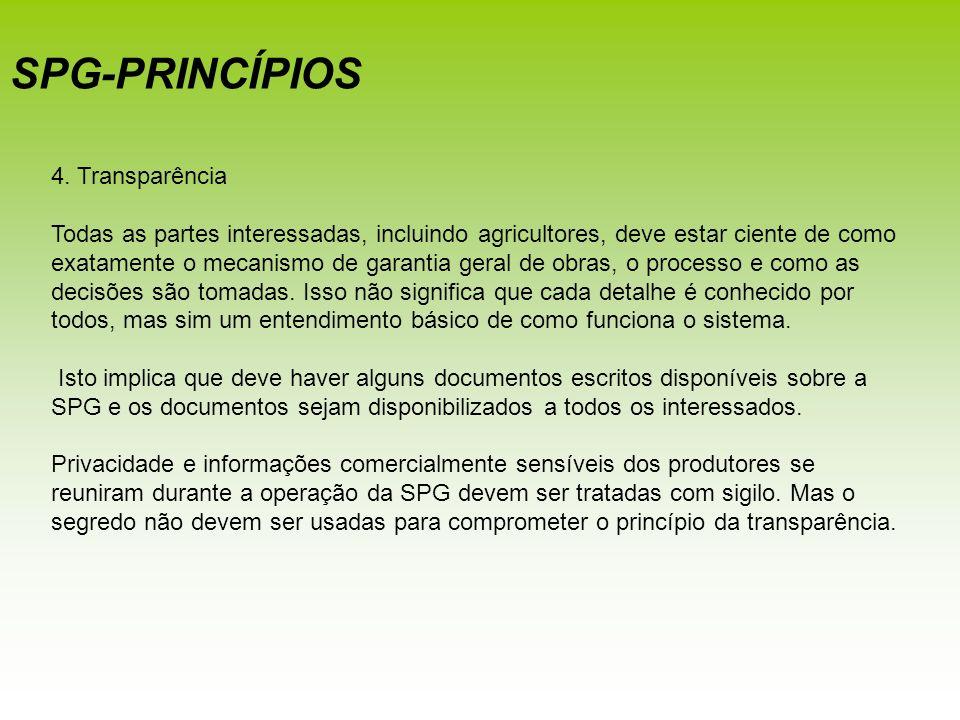SPG-PRINCÍPIOS 4. Transparência