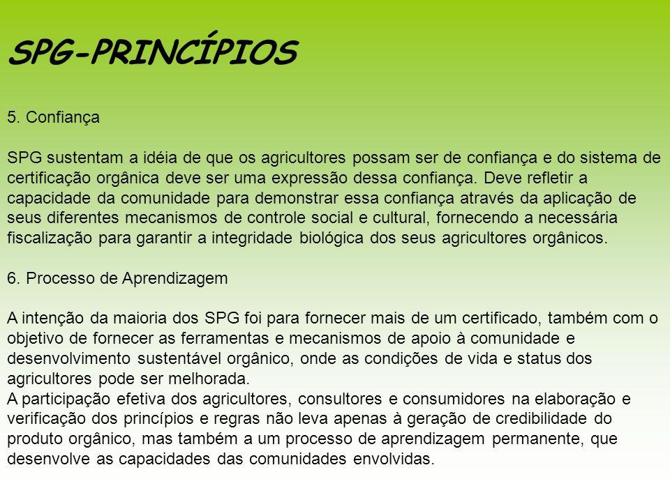 SPG-PRINCÍPIOS 5. Confiança