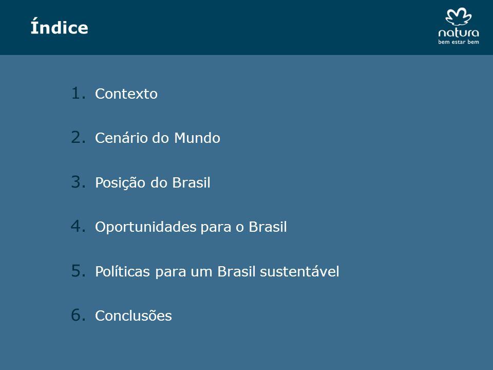 Índice Contexto Cenário do Mundo Posição do Brasil