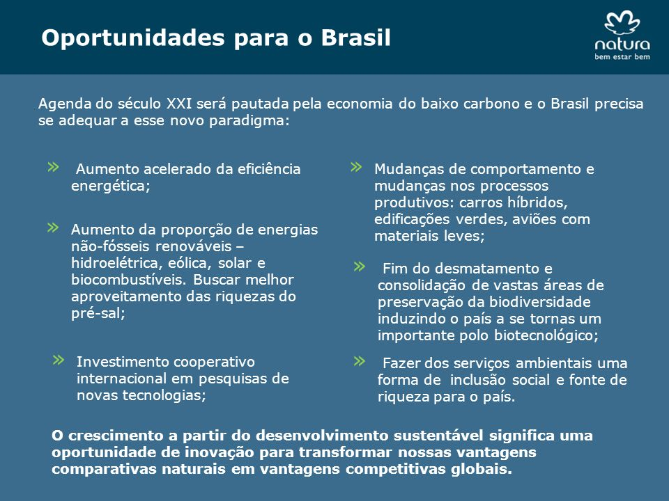 Oportunidades para o Brasil