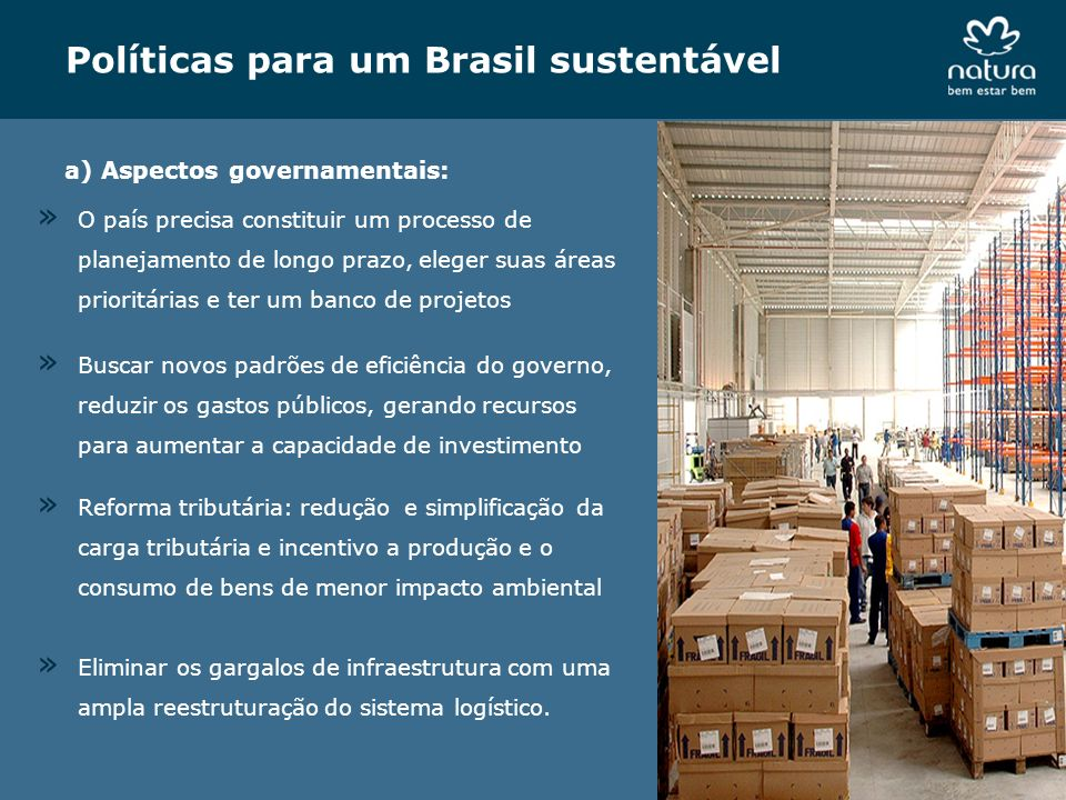 Políticas para um Brasil sustentável