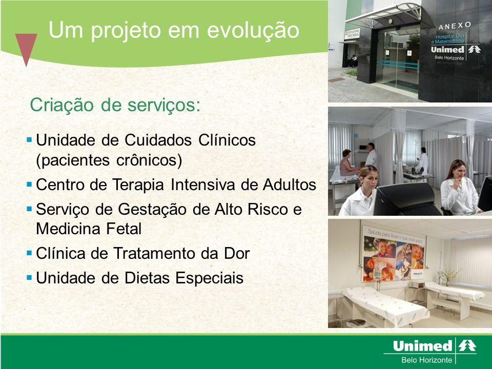 Um projeto em evolução Criação de serviços:
