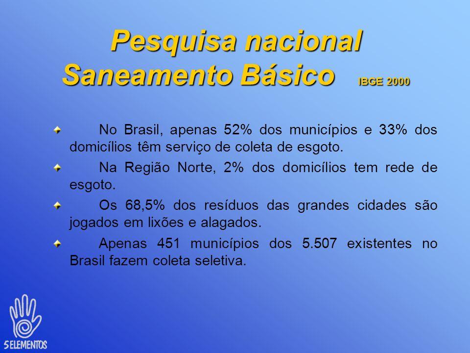 Pesquisa nacional Saneamento Básico IBGE 2000