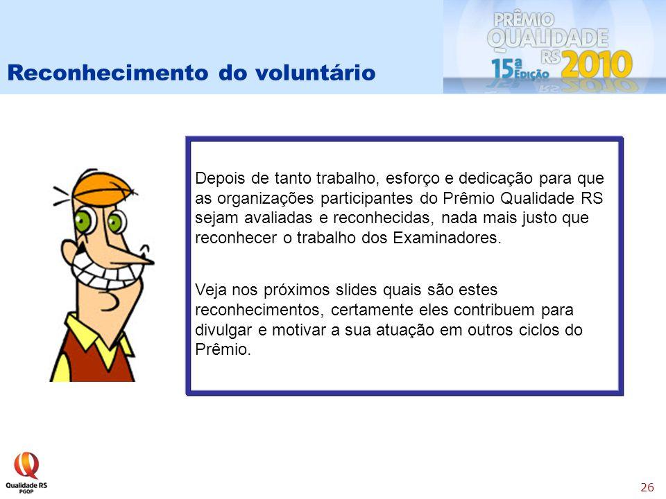 Reconhecimento do voluntário