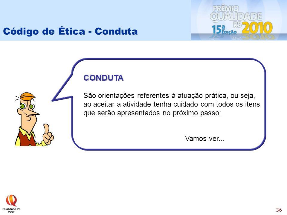Código de Ética - Conduta