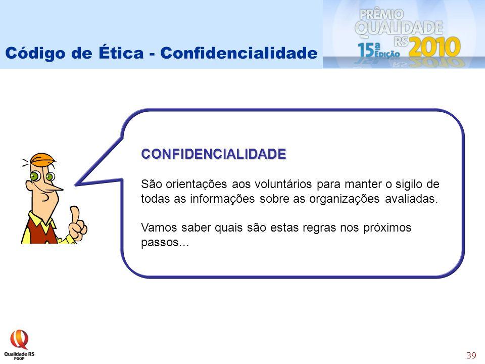 Código de Ética - Confidencialidade
