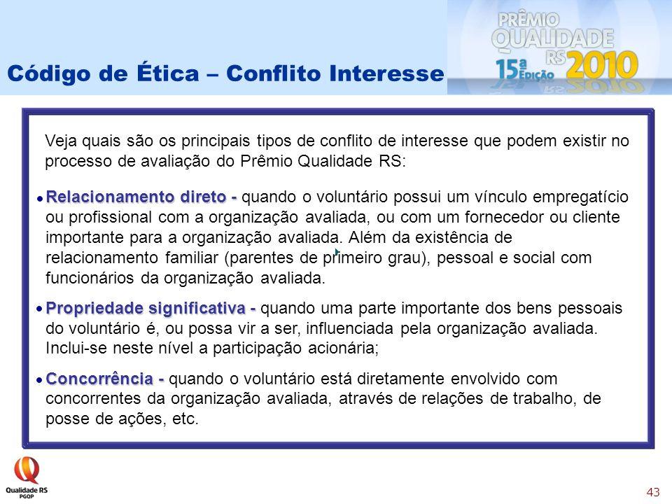 Código de Ética – Conflito Interesse