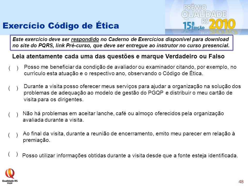 Exercício Código de Ética