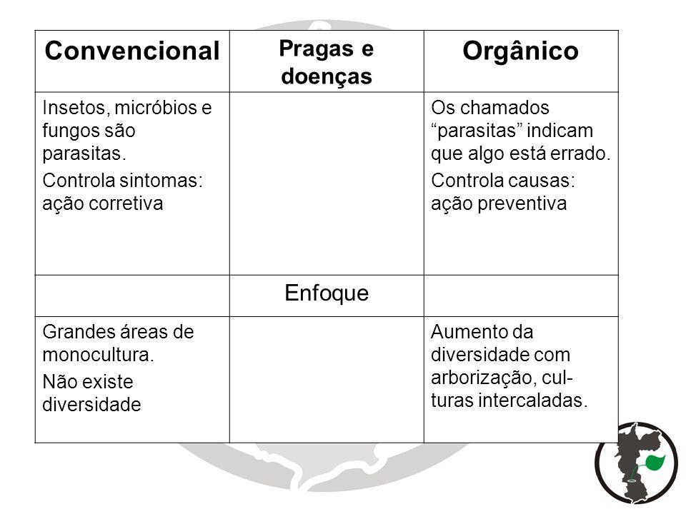 Convencional Orgânico