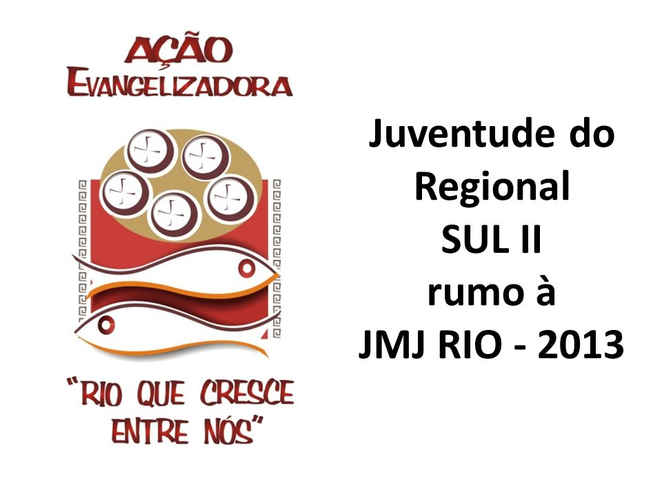 Juventude do Regional SUL II rumo à JMJ RIO - 2013