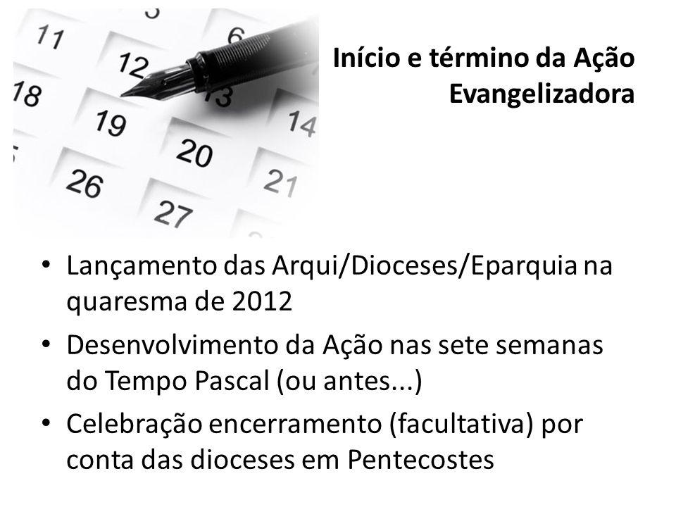 Início e término da Ação Evangelizadora