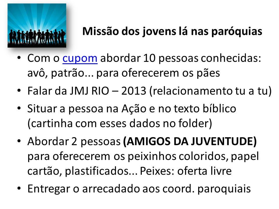 Missão dos jovens lá nas paróquias