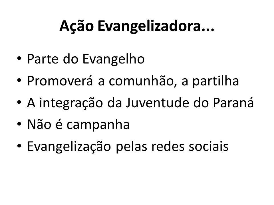 Ação Evangelizadora... Parte do Evangelho