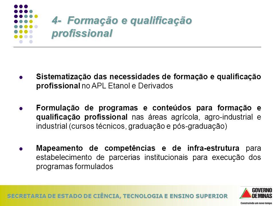4- Formação e qualificação profissional