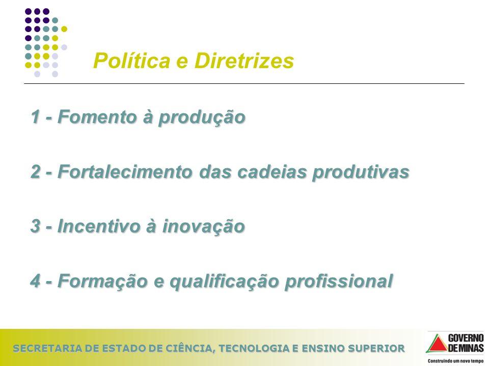 Política e Diretrizes 1 - Fomento à produção