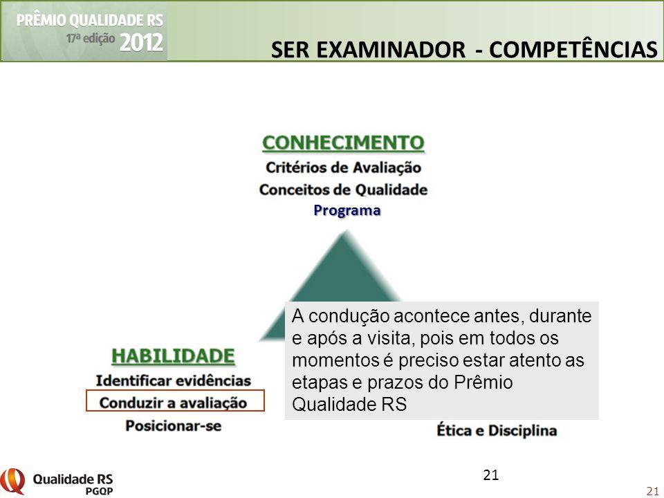 SER EXAMINADOR - COMPETÊNCIAS