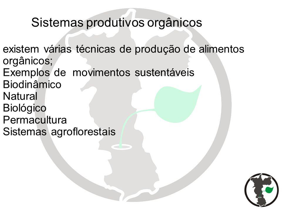 Sistemas produtivos orgânicos