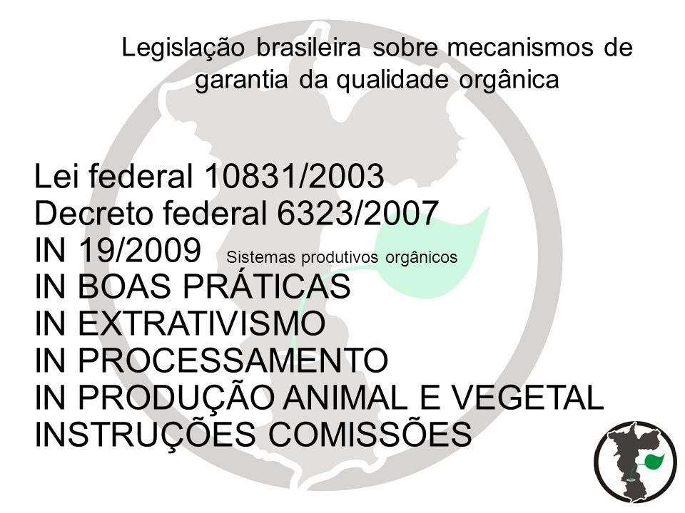 IN PRODUÇÃO ANIMAL E VEGETAL INSTRUÇÕES COMISSÕES