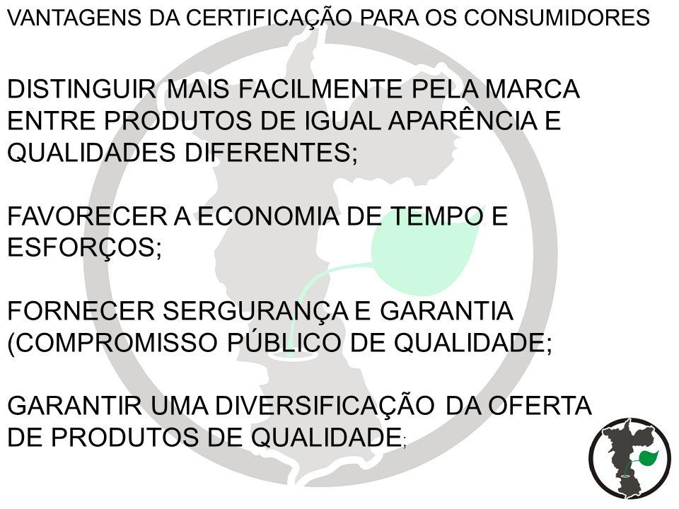 FAVORECER A ECONOMIA DE TEMPO E ESFORÇOS;