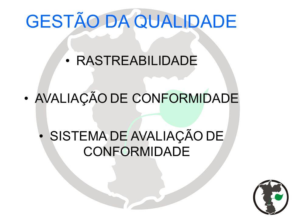 GESTÃO DA QUALIDADE RASTREABILIDADE AVALIAÇÃO DE CONFORMIDADE