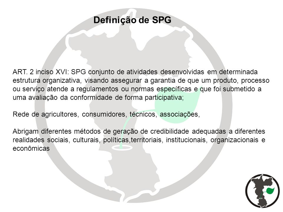 Definição de SPG