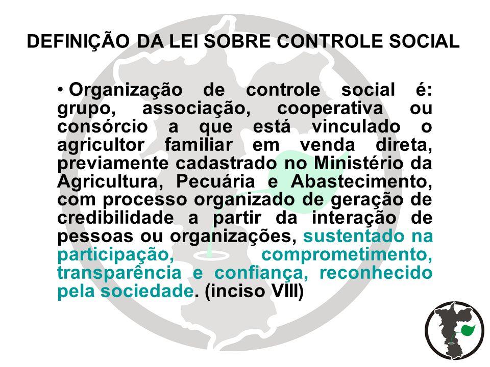 DEFINIÇÃO DA LEI SOBRE CONTROLE SOCIAL